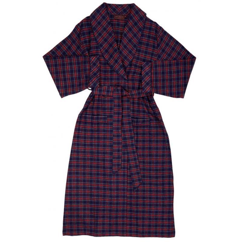 purple tartan bademantel f r sie und ihn. Black Bedroom Furniture Sets. Home Design Ideas