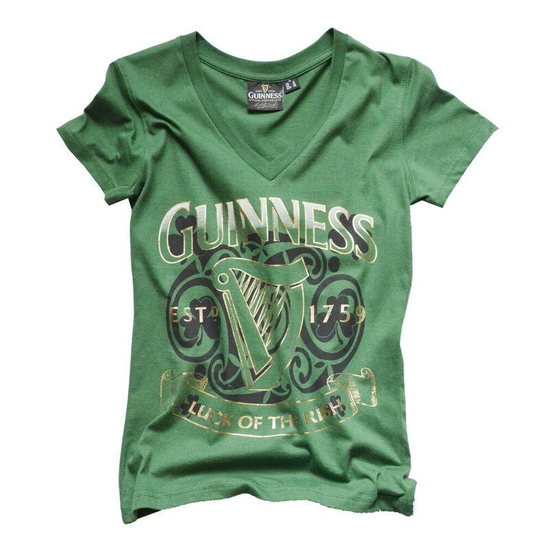 damen t shirt mit guinness logo in gr n. Black Bedroom Furniture Sets. Home Design Ideas