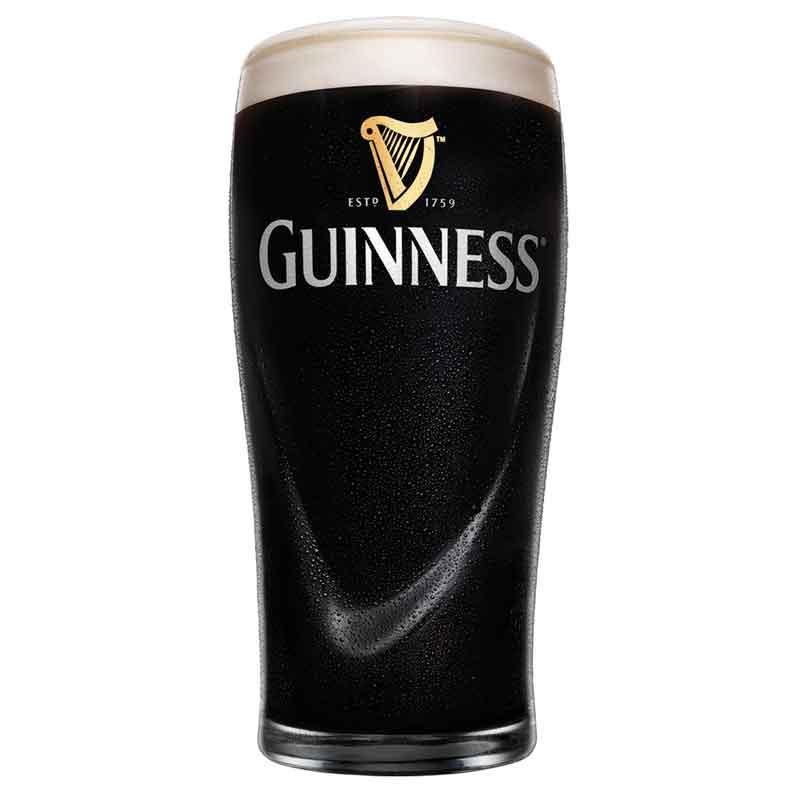 Guinness Glas mit Relief | derirlandshop.de