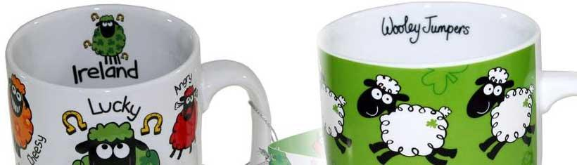 Schaf Tassen aus Irland Der irische ?Mug?,...