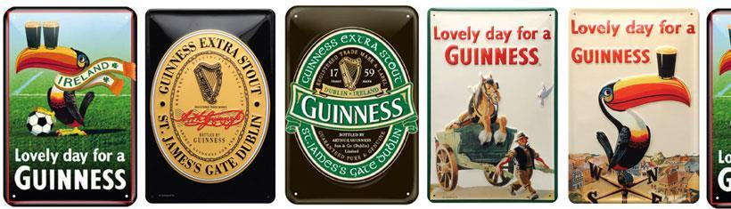 The Guinness tin signs in a great retro design...