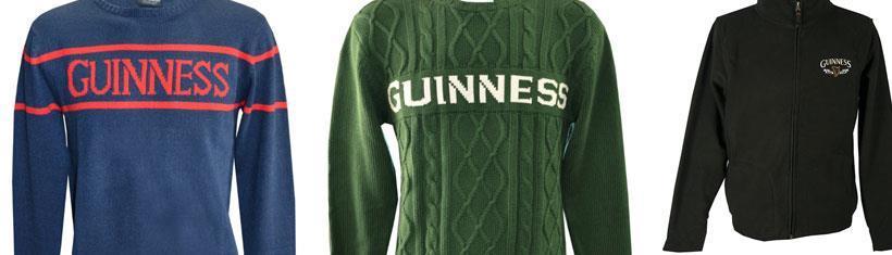 Guinness Jacken und Pullover gehören...