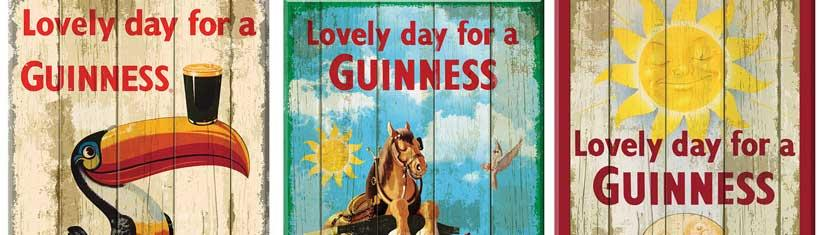 Great wooden signs from Guinness with great...