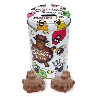 Wacky Woollies chocolate in tin box