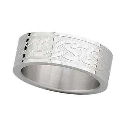 Herren-Ring mit Spiralmuster