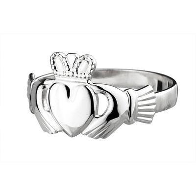Damen Claddagh Ring, Sterling Silber