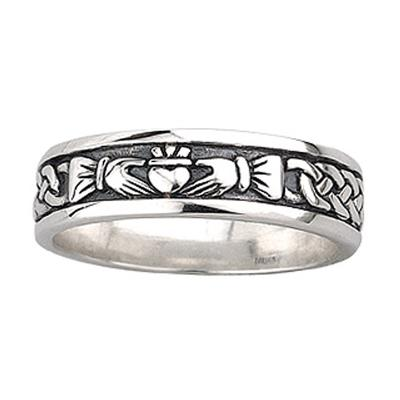 Damen Claddagh Ring aus Sterling Silber