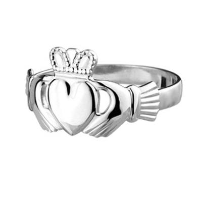 Herren Claddagh Ring, Sterling Silber