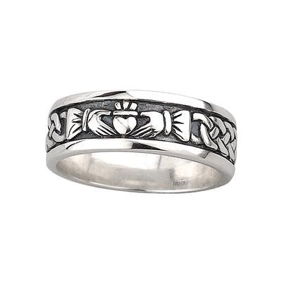 Herren Claddagh Ring aus Sterling Silber