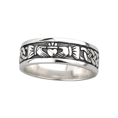 Mens Ring Claddagh Symbol Sterling Silver