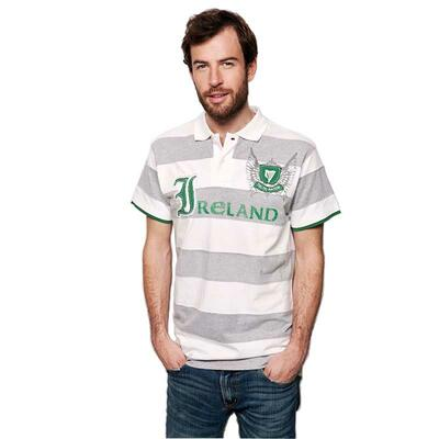 Polo shirt for men with Ireland writing