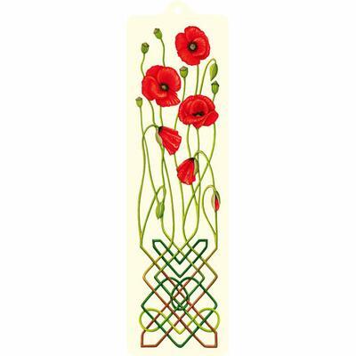 Celtic Bookmark Poppies