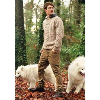 Aran Pullover, beige