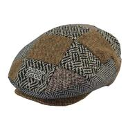 Tweed cap with celtic emblem, Patchwork