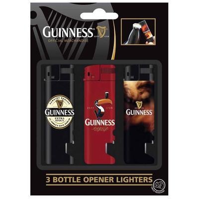 Guinness Feuerzeug Set, 3 Stück