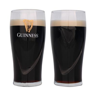 Guinness Gläser Set 0,5l , Relief