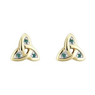 Ohrstecker keltisches Knotenmuster,Gold und Diamanten