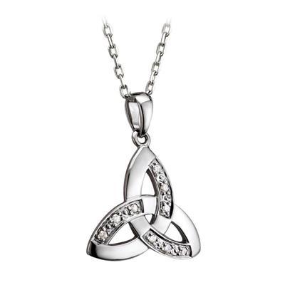 Pendant Celtic Knot Design 14 carat with diamonds