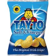 Tayto Salt & Vinegar Chips, Pack of 6