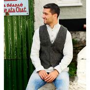 Durrow tweed vest, grey