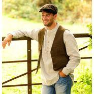 Durrow tweed vest, moss