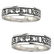 Claddagh wedding rings sterling silver