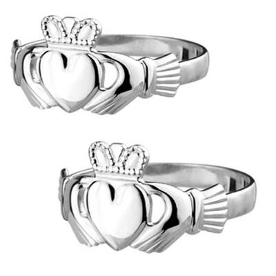 Claddagh wedding rings 100% sterling silver