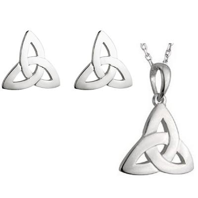 Set of earrings and pendant Celtic knot design