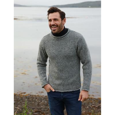Mens Knitted Sweaters, Grey