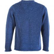 Knitted sweater for men, mottled black-grey