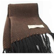 High quality knitted scarf for men, black-brown