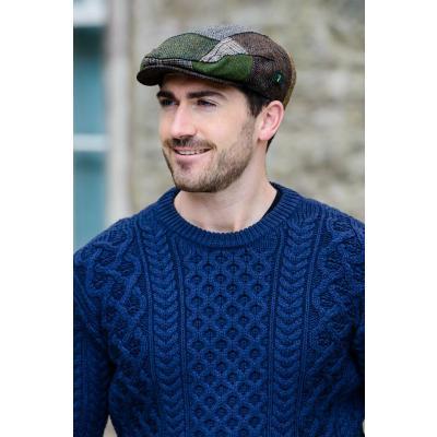 Patchwork Cap, green checkered