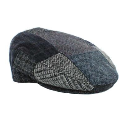 Patchwork Cap, grey-blue check