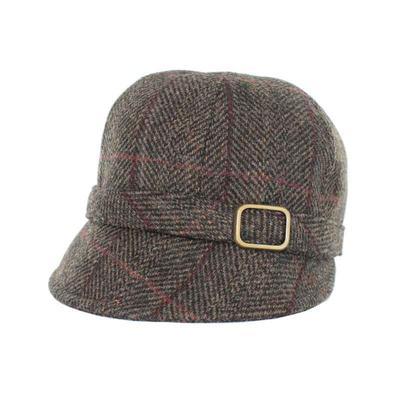 Flapper Hat, braun kariert
