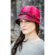 Flapper Hat, pink checkered