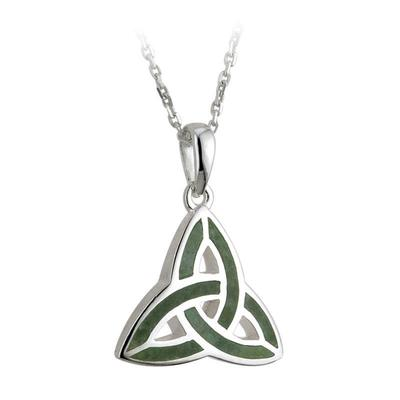 Pendant Celtic knot design with Irish marble