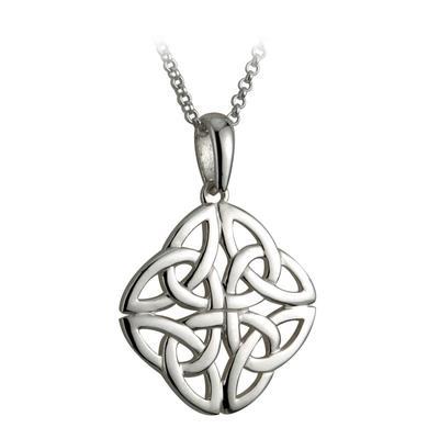 Pendant Celtic knot design, 100% sterling silver