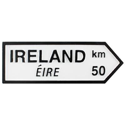 Road magnetic sign, Ireland