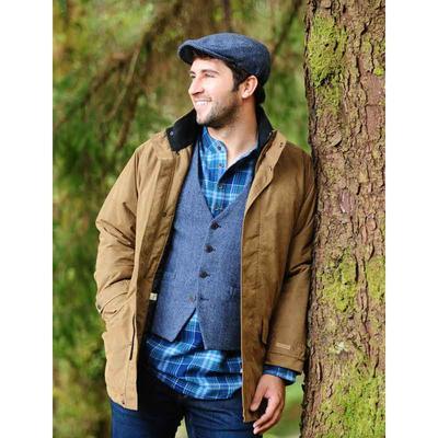Durrow tweed vest, dove
