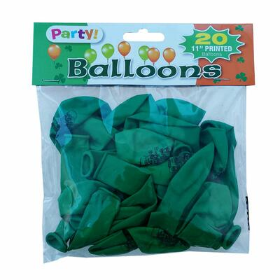 Irish party balloons 20 pieces