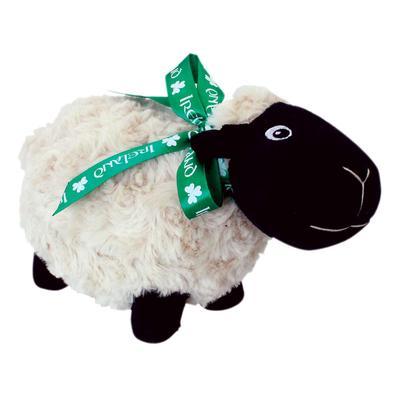 Irisches schwarzes Schaf mit grüner Schleife