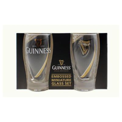 Guinness Mini Glasses Set, Relief Glasses