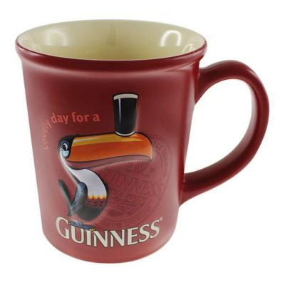 Large Cup with Guinness Toucan, Red