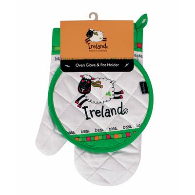 Ireland Sheep oven glove & oven cloth