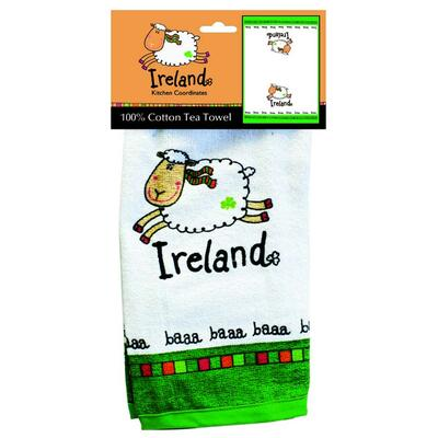 Ireland White sheep kitchen towel