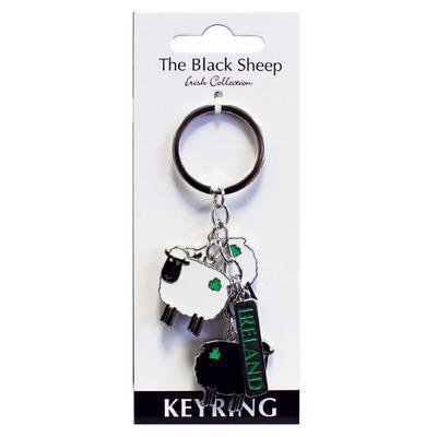 Black & White Sheep Schlüsselanhänger