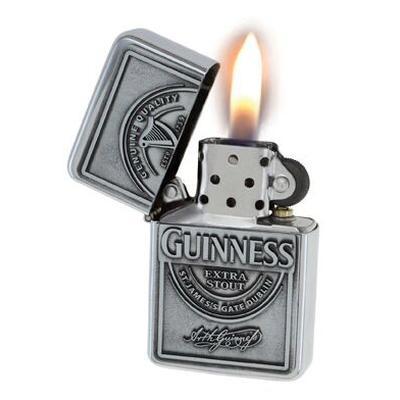 Guinness Sturmfeuerzeug aus Metall