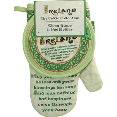 Irish Blessing - Oven glove & pot holder
