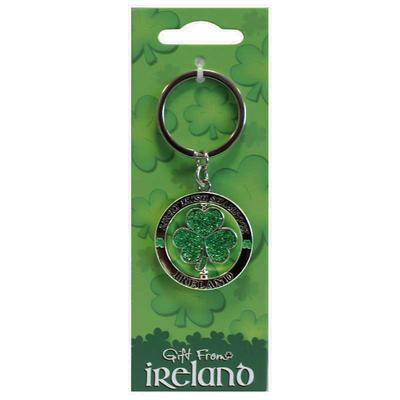 key ring shamrock motif