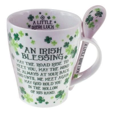 Cup with spoon Irish Blessing